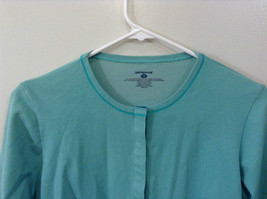 Green Patagonia Top Hidden Front Snap Closure Small  Slits on Sleeves Size M image 3