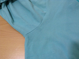 Green Patagonia Top Hidden Front Snap Closure Small  Slits on Sleeves Size M image 11