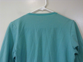 Green Patagonia Top Hidden Front Snap Closure Small  Slits on Sleeves Size M image 6