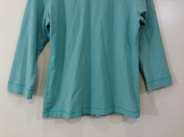 Green Patagonia Top Hidden Front Snap Closure Small  Slits on Sleeves Size M image 7