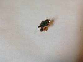Green Red Gray Gold Tone Flat Turtle Pin Hinge Clasp Enamel Made in Korea image 3