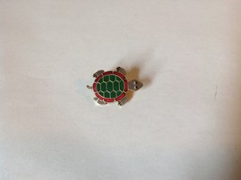 Green Red Gray Gold Tone Flat Turtle Pin Hinge Clasp Enamel Made in Korea image 2