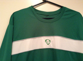 Green Nike Short Sleeve Sport Jersey 100 Percent Polyester Size L to XL No Tag image 3