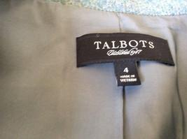 Green Three Quarter Length Sleeves Blazer Jacket from Talbots Size 4 image 5