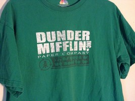 Green T Shirt Dunder Mifflin Inc Paper Company 100 Percent Preshrunk Cotton image 2
