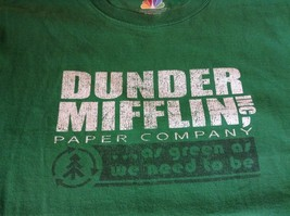 Green T Shirt Dunder Mifflin Inc Paper Company 100 Percent Preshrunk Cotton image 6