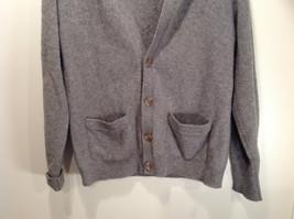 Greenwich 100 Percent Lambs Wool Gray Cardigan Size M Soft Fuzzy Fabric image 3