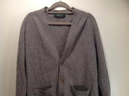 Greenwich 100 Percent Lambs Wool Gray Cardigan Size M Soft Fuzzy Fabric image 2