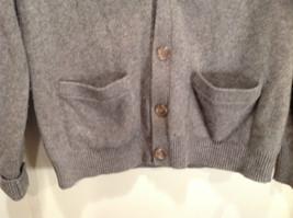 Greenwich 100 Percent Lambs Wool Gray Cardigan Size M Soft Fuzzy Fabric image 6