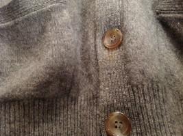 Greenwich 100 Percent Lambs Wool Gray Cardigan Size M Soft Fuzzy Fabric image 4