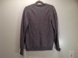Greenwich 100 Percent Lambs Wool Gray Cardigan Size M Soft Fuzzy Fabric image 8