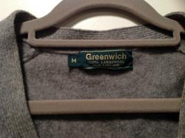 Greenwich 100 Percent Lambs Wool Gray Cardigan Size M Soft Fuzzy Fabric image 7