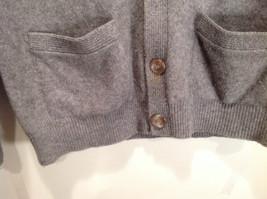 Greenwich 100 Percent Lambs Wool Gray Cardigan Size M Soft Fuzzy Fabric image 5