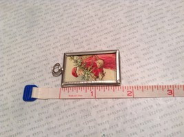Joy and Santa Charm Present Tie On Versatile Reversible Tag Metal Glass Tag image 3