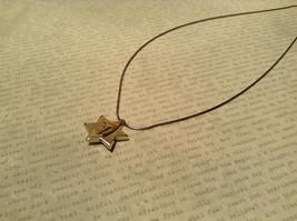 Judaica Sterling Silver Star of David Secret Garnet Gold Plated Bird Necklace image 2