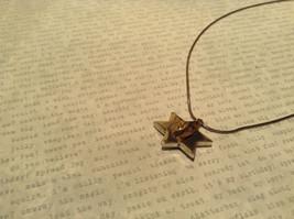 Judaica Sterling Silver Star of David Secret Garnet Gold Plated Bird Necklace image 3