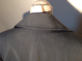 Josephine Chaus Gray Stripped Formal Jacket Blazer One Front Pocket Size 10 image 6