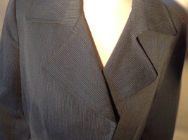 Josephine Chaus Gray Stripped Formal Jacket Blazer One Front Pocket Size 10 image 10