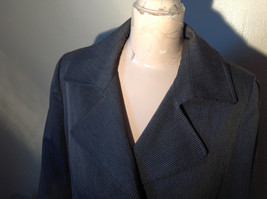 Josephine Chaus Gray Stripped Formal Jacket Blazer One Front Pocket Size 10 image 2