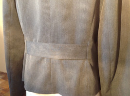 Josephine Chaus Gray Stripped Formal Jacket Blazer One Front Pocket Size 10 image 8