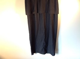 Julian Taylor Long Black Dress with Short Sleeve Jacket Attached One Piece image 8