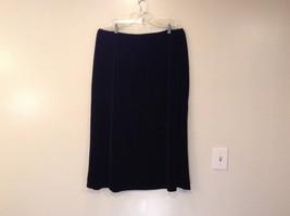 Kathie Lee Black Velvet Skirt Elastic Waist Straight No Slits Size 22W to 24W image 2