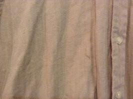 Joseph and Lyman Long Sleeve Button Front Beige Shirt Herringbone Pattern Size S image 6