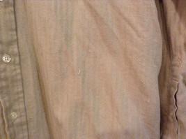 Joseph and Lyman Long Sleeve Button Front Beige Shirt Herringbone Pattern Size S image 5