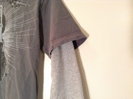Kenneth Cole Reaction Gray Long Sleeve Graphic Shirt Size M 100 Percent Cotton image 4