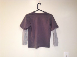 Kenneth Cole Reaction Gray Long Sleeve Graphic Shirt Size M 100 Percent Cotton image 5