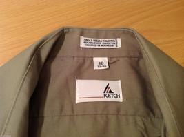 Ketch Khaki Long Sleeve Classic Shirt, Size 16 (32/33) image 8