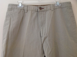 Khaki 5 Pocket Casual Pants Button and Zipper Closure Route 66 Size 36 by 34 image 2