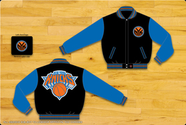 JH Design NY Knicks Adult 2 Tone Wool Reversible Jacket  - $109.95