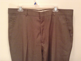Kenneth Cole Reaction Size 36 by 30 Light Brown Pleated Front Dress Pants image 3