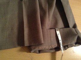 Kenneth Cole Reaction Size 36 by 30 Light Brown Pleated Front Dress Pants image 8