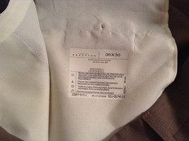Kenneth Cole Reaction Size 36 by 30 Light Brown Pleated Front Dress Pants image 7