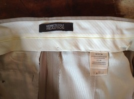 Kenneth Cole Reaction Tan Pleated Dress Pants  Size 32 by 34 image 8