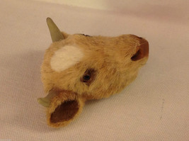 Guernsey chocolate milk bull   furry refrigerator magnet in 3D image 2
