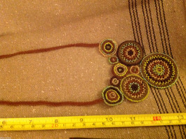 Guatemala women's greens  hand beaded crocheted macrame necklace #2 image 6