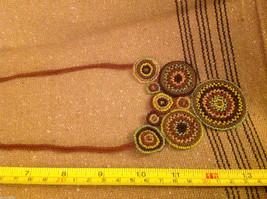 Guatemala women's greens  hand beaded crocheted macrame necklace #2 image 4
