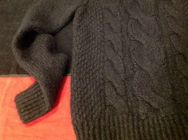 H & M long sleeve sweater color black for women image 4