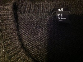 H & M long sleeve sweater color black for women image 6