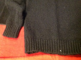 H & M long sleeve sweater color black for women image 9