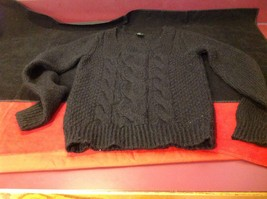 H & M long sleeve sweater color black for women image 7