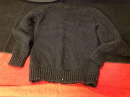 H & M long sleeve sweater color black for women image 8