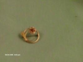 Krementz yellow & rose gold flower circle pin delicate image 2