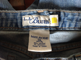 L A Blues Light Wash Denim Five Pocket Jeans Size 9M Petite image 7