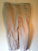 Haggar Khaki Casual Pants 2 Front Pockets Back Pockets Measurements Below image 2
