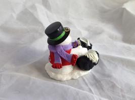 Hallmark Keepsake Snow Buddies Snowman and Skunk Ornament NIB image 3