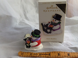 Hallmark Keepsake Snow Buddies Snowman and Skunk Ornament NIB image 7